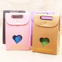 Feiluan 20pcs multi color gift window box bag gold foil French/Russial Thank you Mercicandy/wedding/nuts/teas package