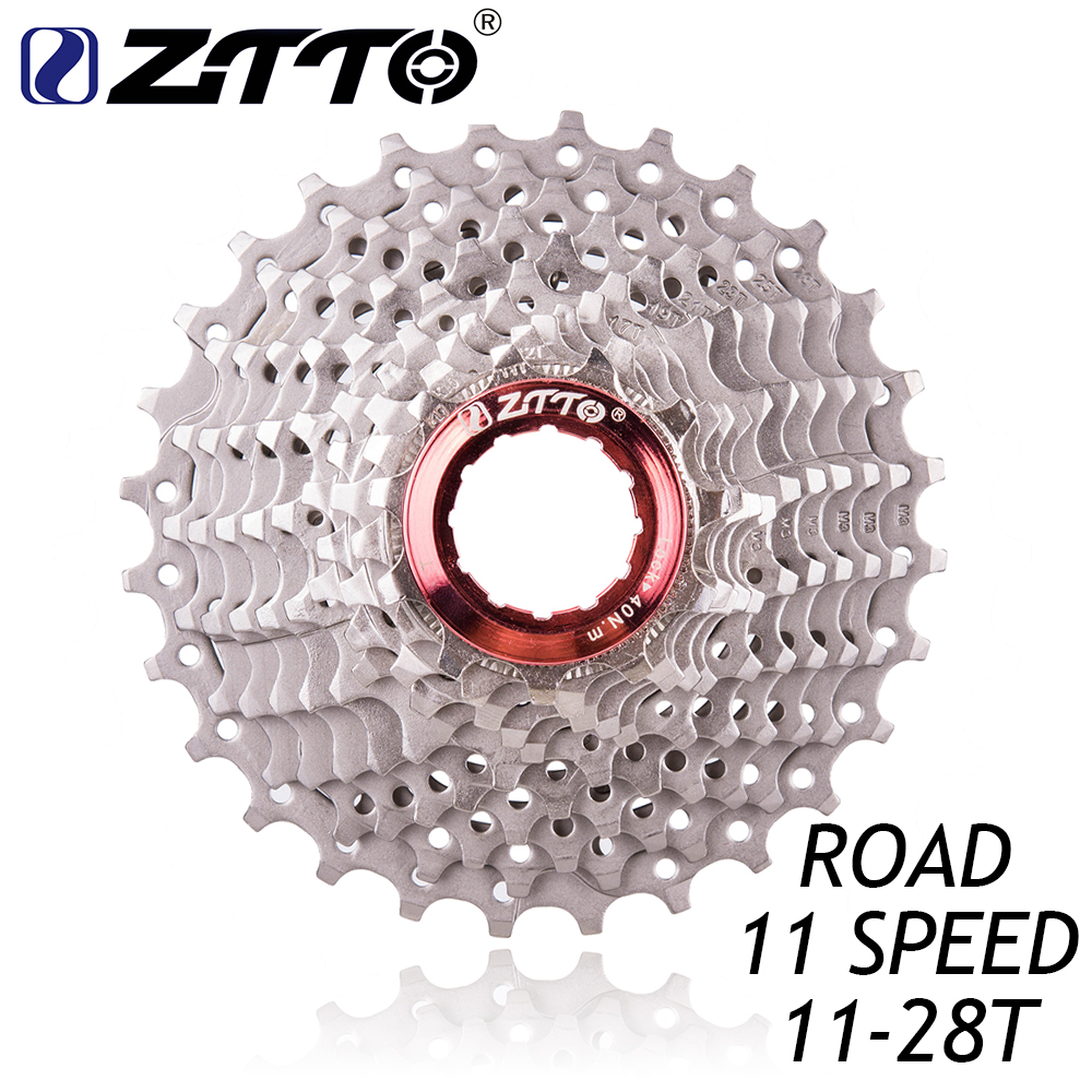 ZTTO Road Bike Bicycle Parts 11 22 S Speed Freewheel Cassette Sprocket 11-28T Compatible for Shimano 105 5800 UT 6800 DA 9100