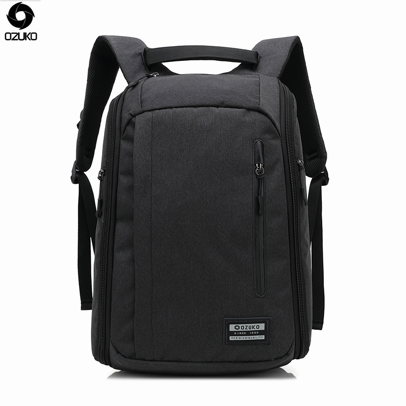 OZUKO 2017 Brand New Design Fashion Men Anti-thief Backpacks Waterproof Laptop Mochila Casual Travel Packsack Student School Bag foru design 600d fashion backpack brand design school book bag polyester bag men computer packsack swiss outsports backpacks
