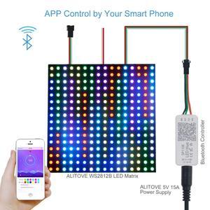 SP110E Bluetooth пиксельный светильник контроллер WS2811 WS2812B ws2812 диммер SK6812 RGB RGBW APA102 WS2801 пикселей Светодиодная лента IOS Android