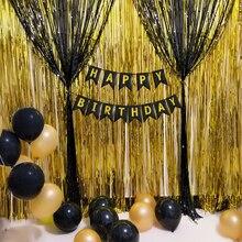 Черное украшение для свадьбы, вечеринки, дня рождения, девичника, вечерние украшения для свадьбы, золотые украшения для дня рождения, для взрослых