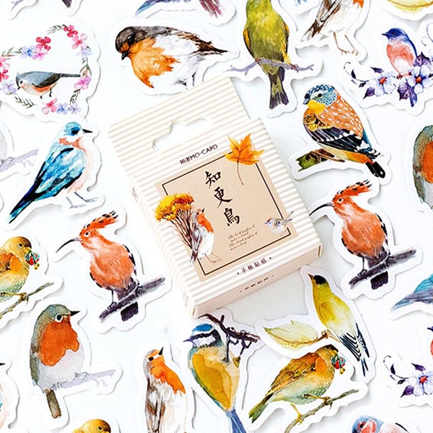 46 teile/los Nette Robin vogel klebstoff papier aufkleber diy Handgemachte Geschenk Karte Sammelalbum dekoration aufkleber