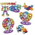 Diseñador magnética 68 unids modelos building blocks ladrillos 3d diy juguetes educativos para niños