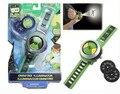 Ben10 omnitrix часы Стиль Дети Проектор Часы Япония Подлинная Бен 10 Смотреть Игрушки Проектор Средний Поддержка Падение дети рождественский подарок