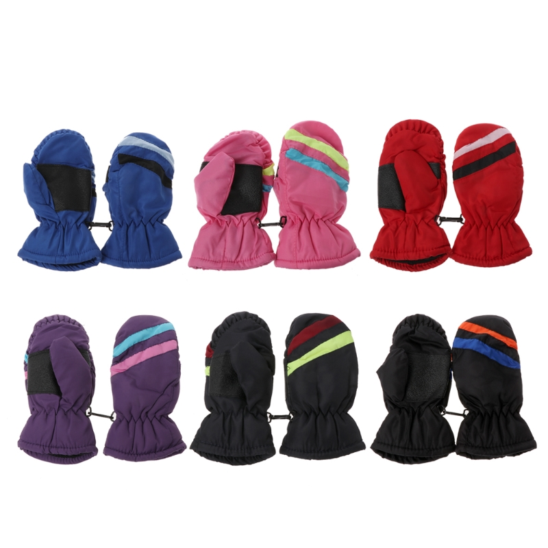2-5y Baby Mitten Winter Kids Boys Girls Outdoor Warm Gloves Waterproof Windproof
