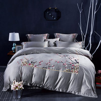Luxury Egyptian cotton Mandala Embroidery Bedding Set Bohemia duvet covers Classical Chinese style Bed bedclothes