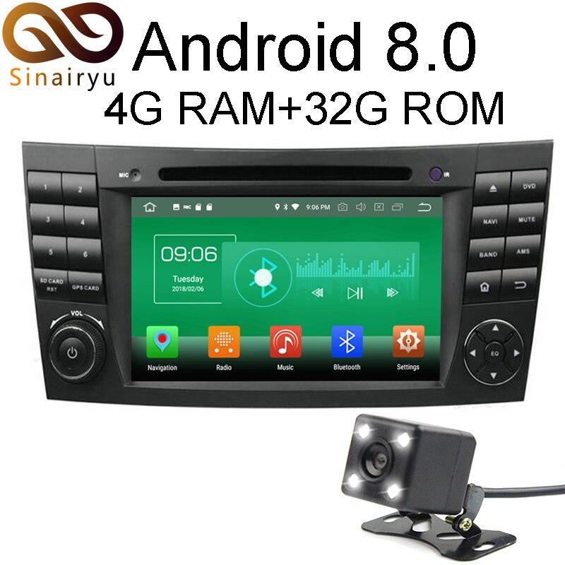 4 г Оперативная память Android 8.0 автомобильный DVD для Mercedes-Benz E-Class W211 CLS W219 G-CLASS W463 восьмиядерный 32 г Радио GPS плеер головное устройство