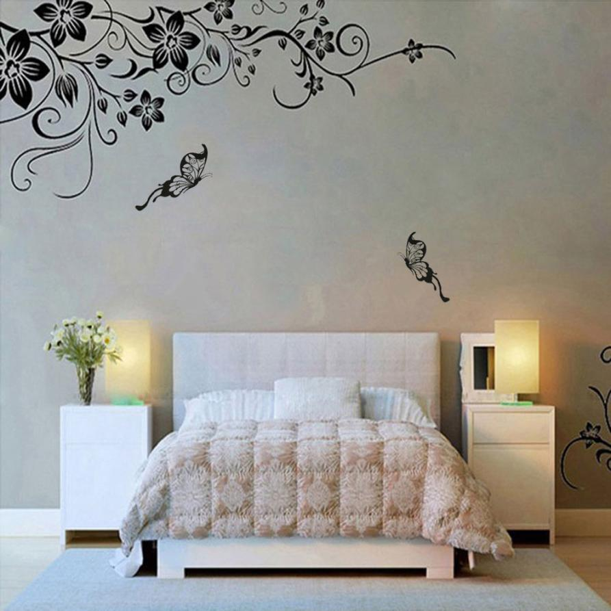 New Fashion Wall Stickers Hee Grand Removable Vinyl Wall Sticker Mural Decal Art - Flowers and Vine