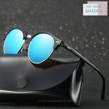 TheIdealShades Sunglasses Men Brand Designer Retro Vintage Driving Sun Glasses Women Male Sunglass Mirror Lunettes de soleil