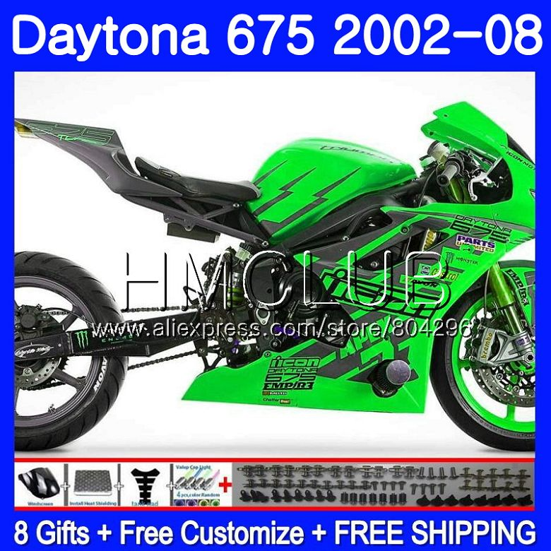 Body For Triumph Daytona675 02 03 04 05 06 07 08 126HM23 Daytona675 02 2002 2003 2004 2005 2006 2007 2008 Light green FairingBody For Triumph Daytona675 02 03 04 05 06 07 08 126HM23 Daytona675 02 2002 2003 2004 2005 2006 2007 2008 Light green Fairing