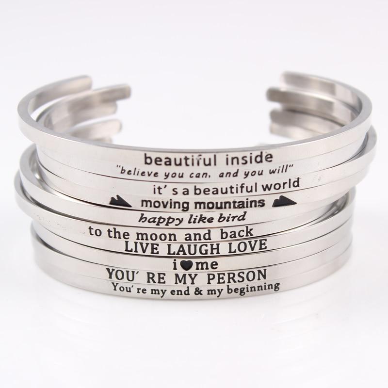 Bangles Engraved Positive Inspirational