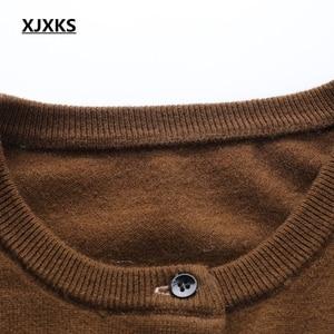 Image 4 - XJXKS pull over, printemps, Cardigan pour femme, manteau, veste tricotée, pull doux et confortable, nouvelle collection 2019