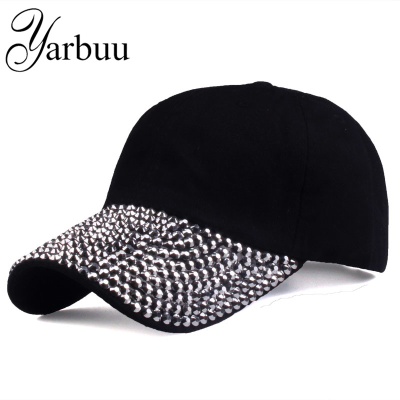 [YARBUU]   Baseball     Caps   2016 New style Pure men and women sun hat rhinestone hat denim and cotton snapback   cap   hip-hop hat