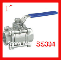 New arrival 1 CF8 SS304 stainless steel BSP 1000WOG ball valve 3pc Body Full Port for water,oil and gas