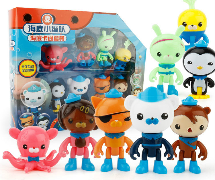 hot Octonauts Action Figures Plush Toys Captain Barnacles Medic Peso Kids Gifts