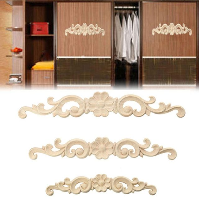 1PC New Decorative Floral Wood Carved Decal Corner Appliques Frame ...