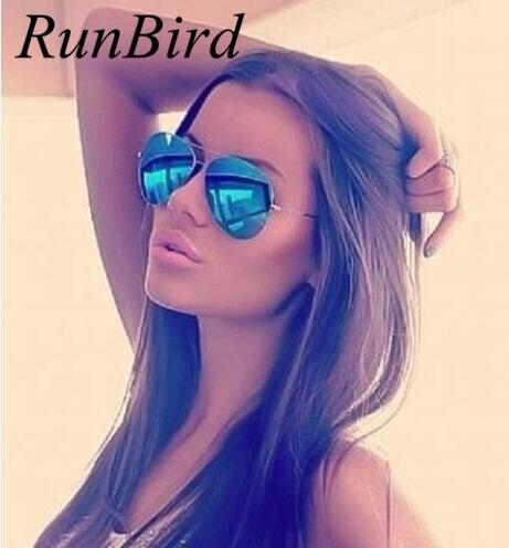 Fashion Men Brand Designer Aviation Sunglasses Women Driving Mirror Glasses Male Sun Glasses Points Oculos De Sol UV400 085