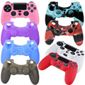 10 colors Injection oil paint controller silicone for sony ps4 controller silicon gel rubber proctective case