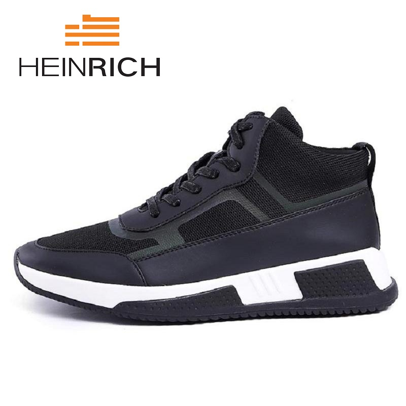 HEINRICH New Men Casual Shoes Lace Up Fashion Brand Mesh Shoes Flats Breathable Thick Bottom Man Shoes Schoenen HerenHEINRICH New Men Casual Shoes Lace Up Fashion Brand Mesh Shoes Flats Breathable Thick Bottom Man Shoes Schoenen Heren
