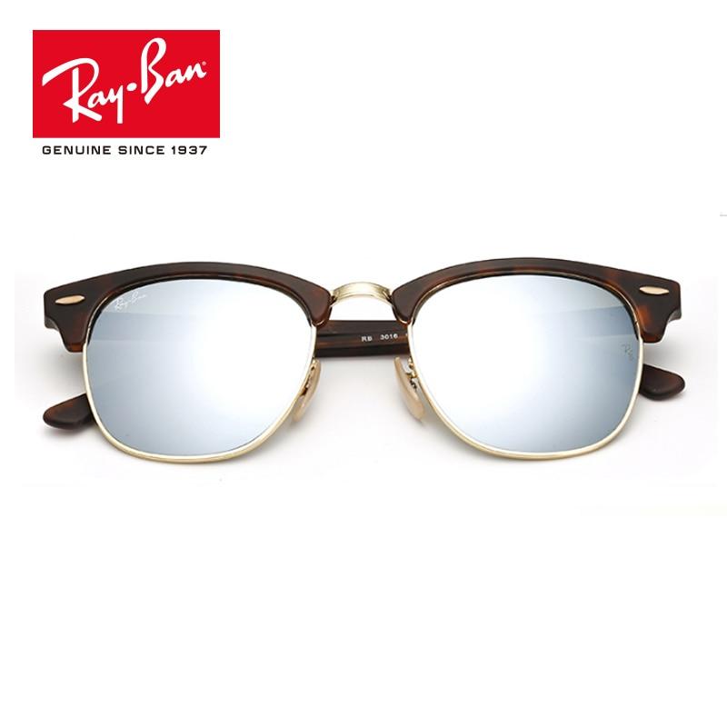 Rayban Retro 2018 Original Brand Designer classic Sunglasses UV Protection Men Women prescription Sun Glasses RB3016-1145/17 feidu 2015 brand designer high quality metal sunglasses women men mirror coating лен sun glasses unisex gafas de sol