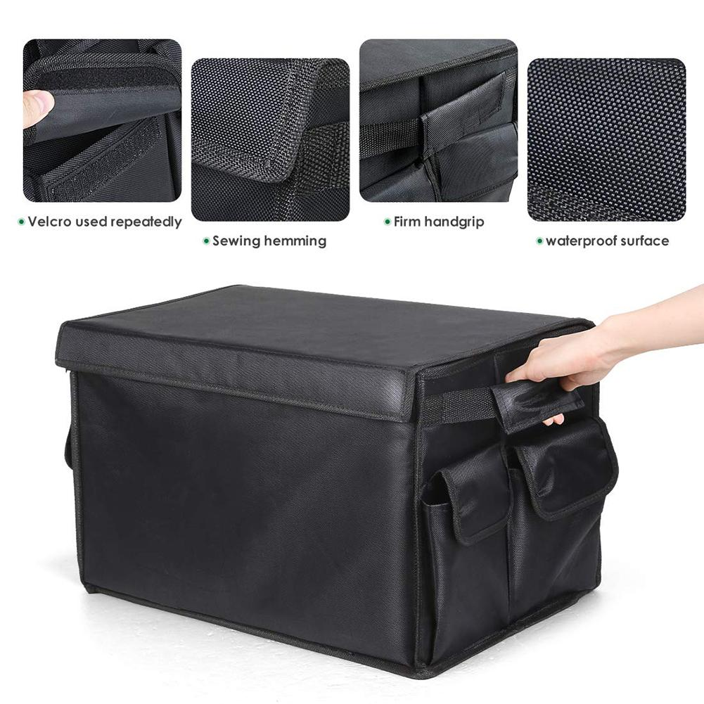Car Trunk Organizer Multi Pocket Folding Toy Food Storage Bag Automatic Storage Cargo Container Tiding High Quality Boot Box in Stowing Tidying from Automobiles Motorcycles