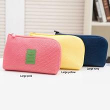1Pc Storage Bag Case travel storage bag for digital data cable charger headphone portable mesh sponge bag power bank holder bag