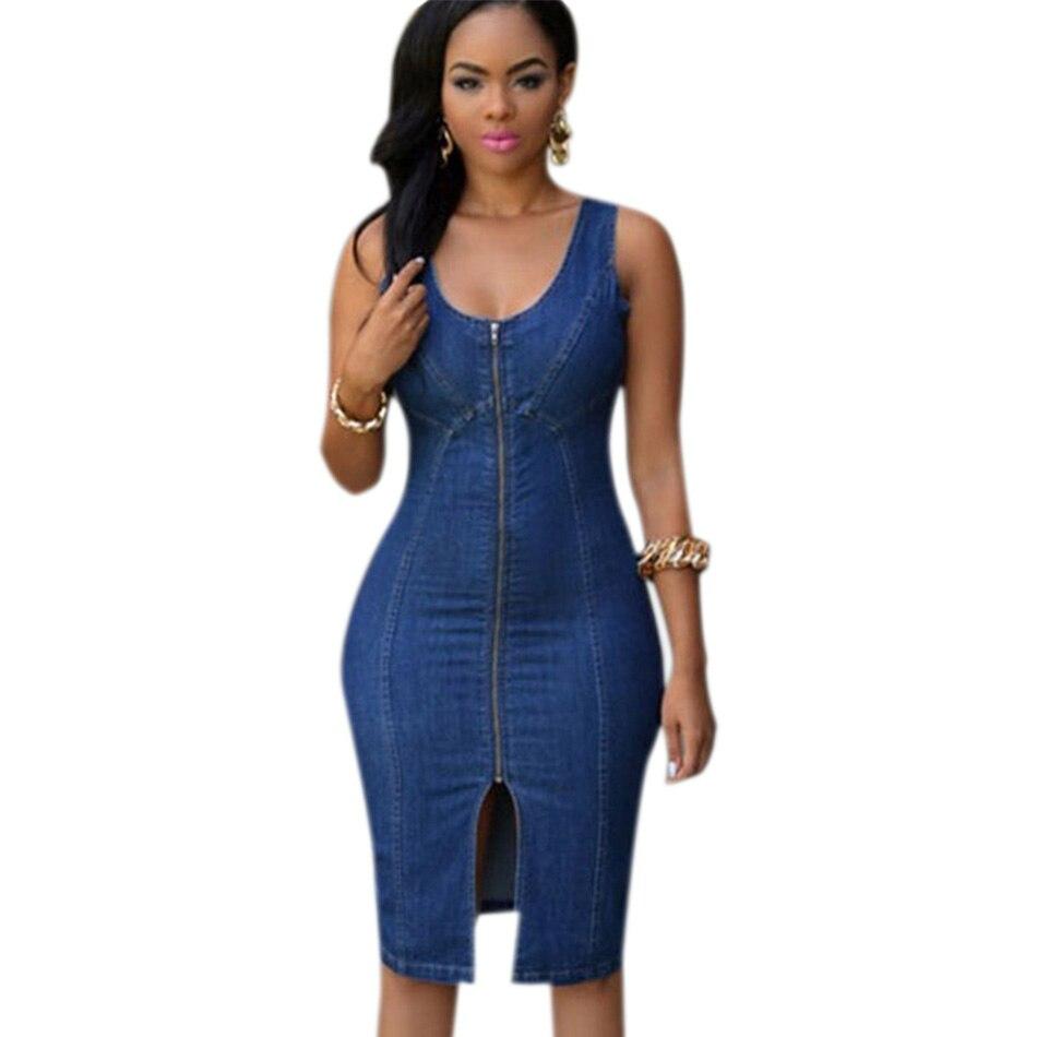 2016 women faddish sexy denim jeans dresses gold zipper. Black Bedroom Furniture Sets. Home Design Ideas
