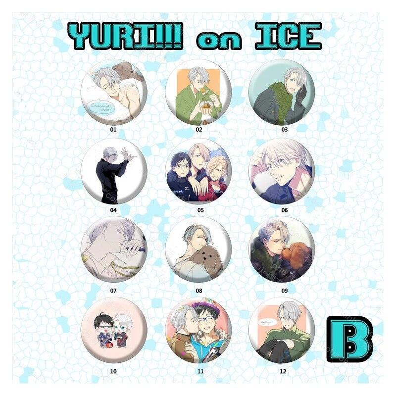 Viktor Nikiforov Yuri On Ice YOI Yuri!! On Ice Heart BADGE Set Official