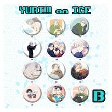 58MM Anime Badge Yuri on Ice Plisetsky Victor Nikiforov Katsuki Yuri on Ice Badge Pin Brooch Badge Backpack