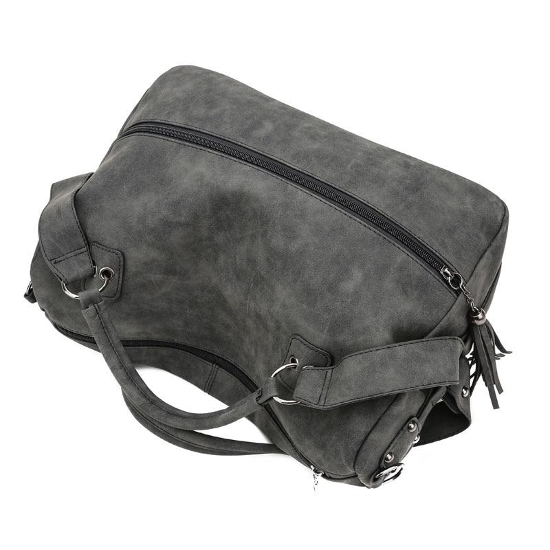 SINTIR Högkvalitativa Nubuck Läder Kvinnor Handväskor Mode Fur - Handväskor - Foto 5