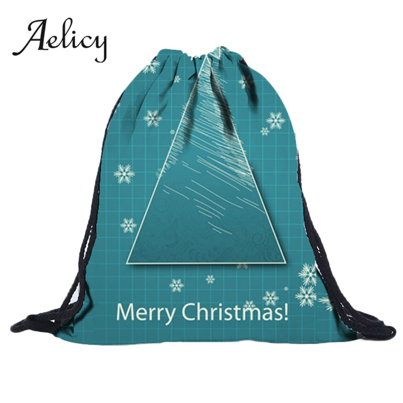 Aelicy Christmas Drawstring Backpack 3D Digital Print Women Shoulder Pocket Men Travel Fitness Sports Bag Children Gift BagAelicy Christmas Drawstring Backpack 3D Digital Print Women Shoulder Pocket Men Travel Fitness Sports Bag Children Gift Bag