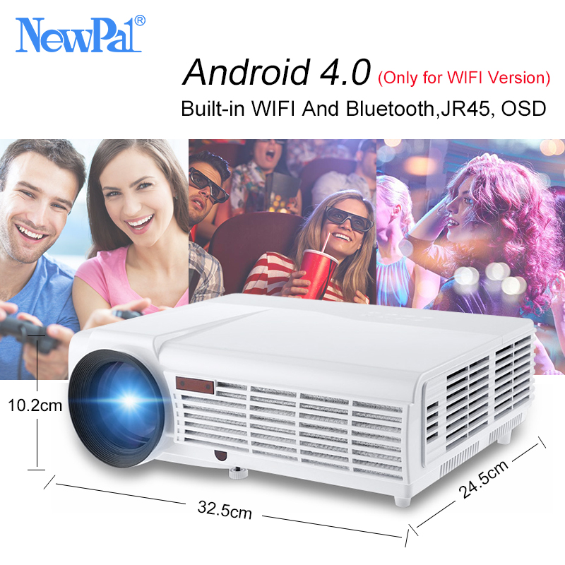 NewPal 5000Lumens Home Projector Support 1920*1080Pixels Video Android WIFI 3D Mini LED Projector Home Business School Proyector aun projector 3200 lumen t90 1280 768 optional android projector with 2 4g air mouse bluetooth wifi support kodi ac3 led tv