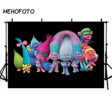 Trolls Poppy Branch Group Black Wall Baby Shower photo Background birthday party sweet table custom Banner Backdrop studio