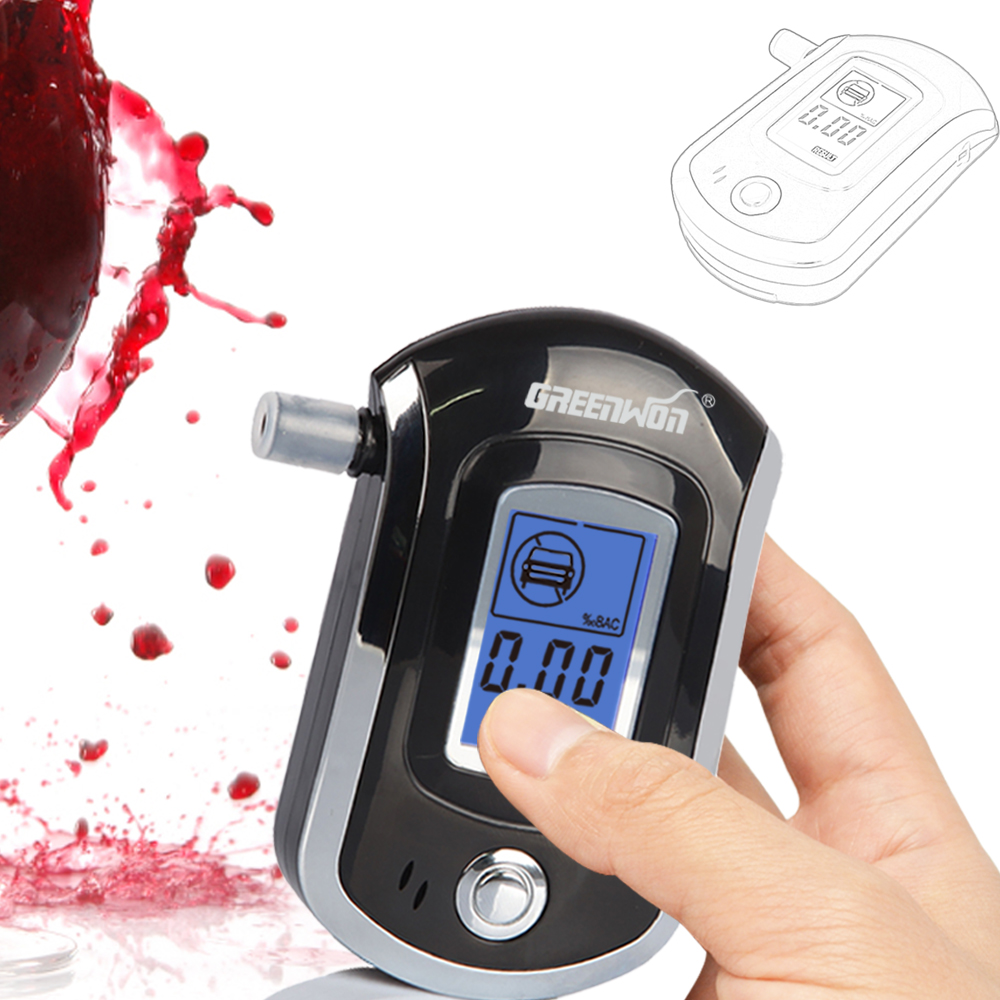 2014 NEW Hot selling Professional Police Digital Breath Alcohol Tester Breathalyzer AT6000 Free shipping Dropshipping цена