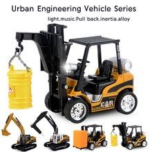 лучшая цена high simulation alloy engineering vehicle model alloy excavator toys,pulverizer crane forklift toy vehicles