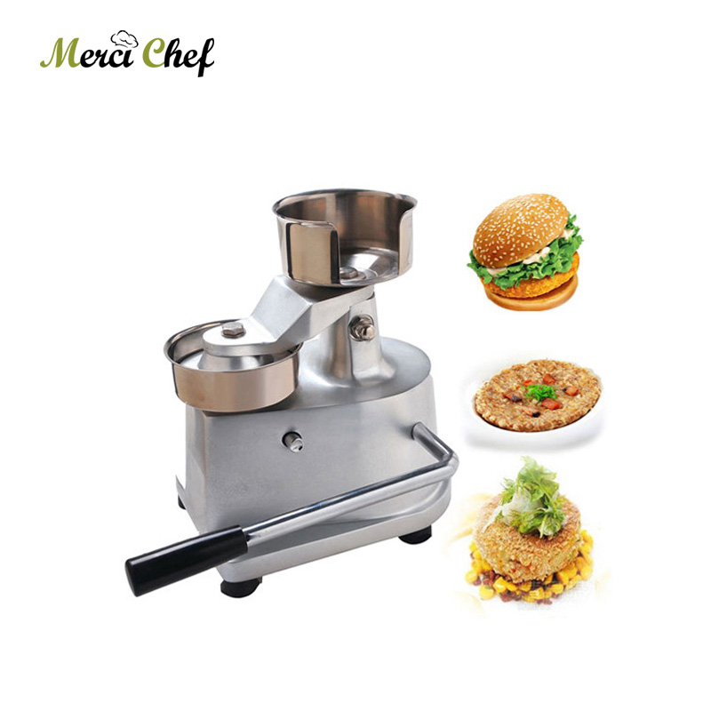 ITOP 100mm-130mm MANUAL HAMBURGER PRESS Burger Forming Machine Round Meat shaping Aluminum Machine Food Processor Machine 35l meat salting marinated machine chinese salter machine hamburger shop fast pickling machine with timer