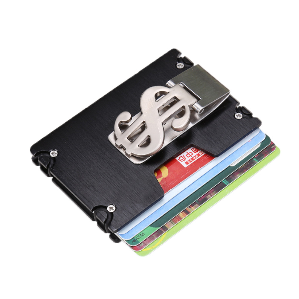 Office & School Supplies Hand Push Business Card Holder Case Bank Membership Card Package Metal Ultra Thin Aluminium Packaging Box Organizer Korea Style Desk Accessories & Organizer