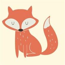 ShinEquin животное ПВХ патч дело с ним одежда теплопередача печать лиса железа на патчи для одежды детей Diy 3d стикер