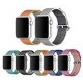 Nuevo Real Correa de Nylon Tejido de nylon correa Para Apple venda de Reloj 42mm 38mm para iwatch inteligente en siete colores vibrantes