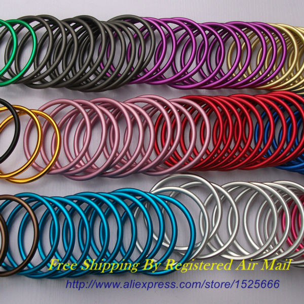 Free Shipping 10pcs 5pairs 3 Large Size No Weld Construction Aluminum Sling Rings DIY Your best