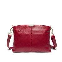 New Genuine Leather Women Messenger Bags Brief 100 Cowhide Ladies Leisure Crossbody Shoulder Bags Female Bolsas