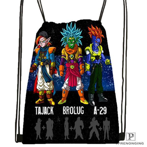 Custom Dragon_ball___kid_goku_Drawstring Backpack Bag Cute Daypack Kids Satchel (Black Back) 31x40cm#180611-03-116