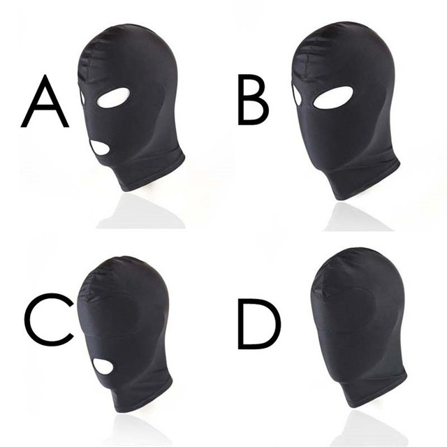Morease 4 Style Fetish Unisex BDSM Hood Mask Black Mouth Eye Slave Hood Sex Product Toys Bondage Adult Game For Couple Women