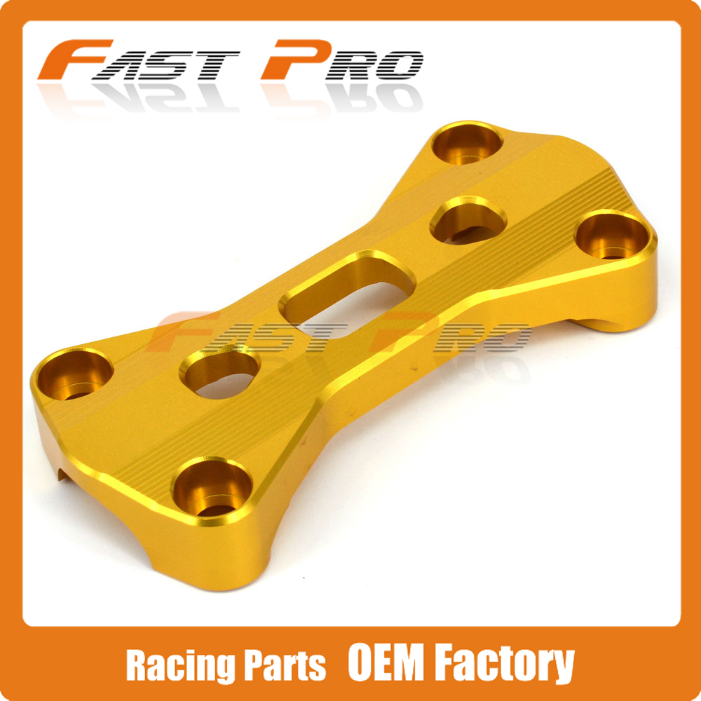 11/8 28MM Billet Handlebar Mount Top Bar Clamp For RM125 RM250 RMZ250 RMZ450 RMX450Z Dirt Bike