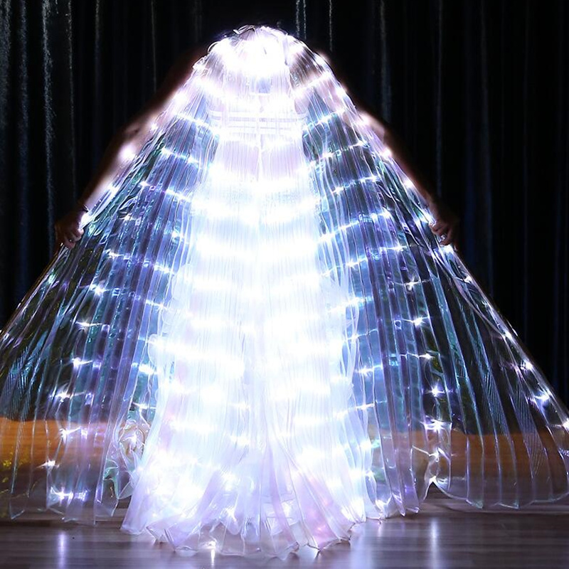 vlinder vleugels Women Dancewear 350 lamp led costume Light Up Wings Belly Dance Wing Costume with Sticks alas isis wings