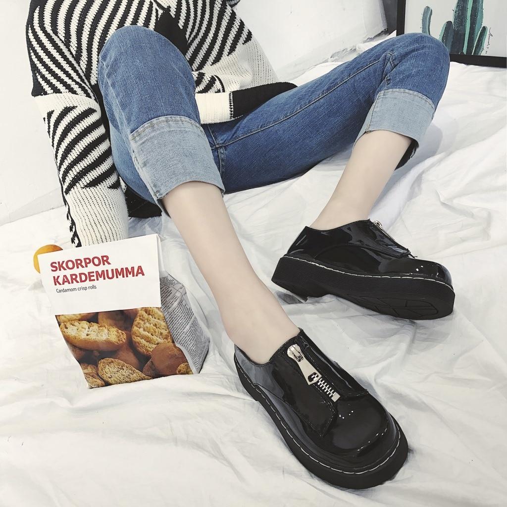 59b30848d28 Hizcinth japanese style women shoes before zipper round head flat jpg  1024x1024 Japanese womens shoes