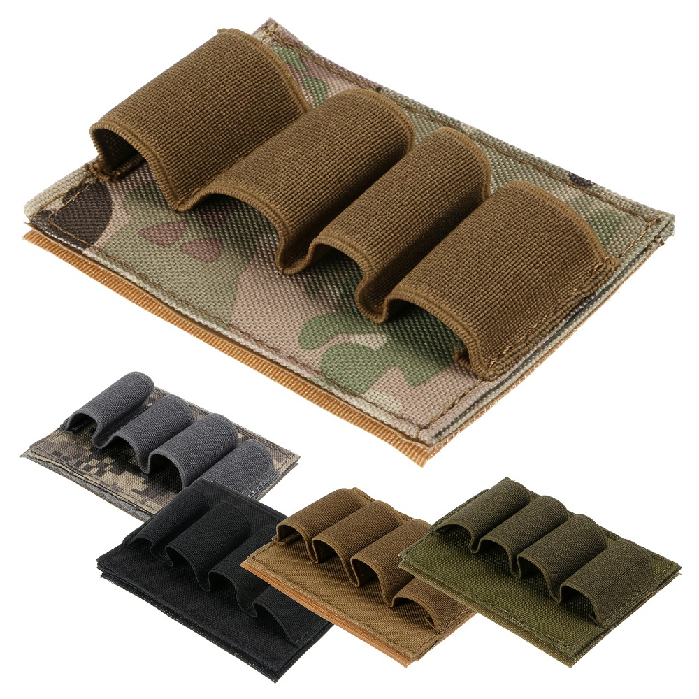 Nuevo Airsoft Tactical Hunting Escopeta Shell Munición Carrier 4 Round Holder 12GA 5 Color