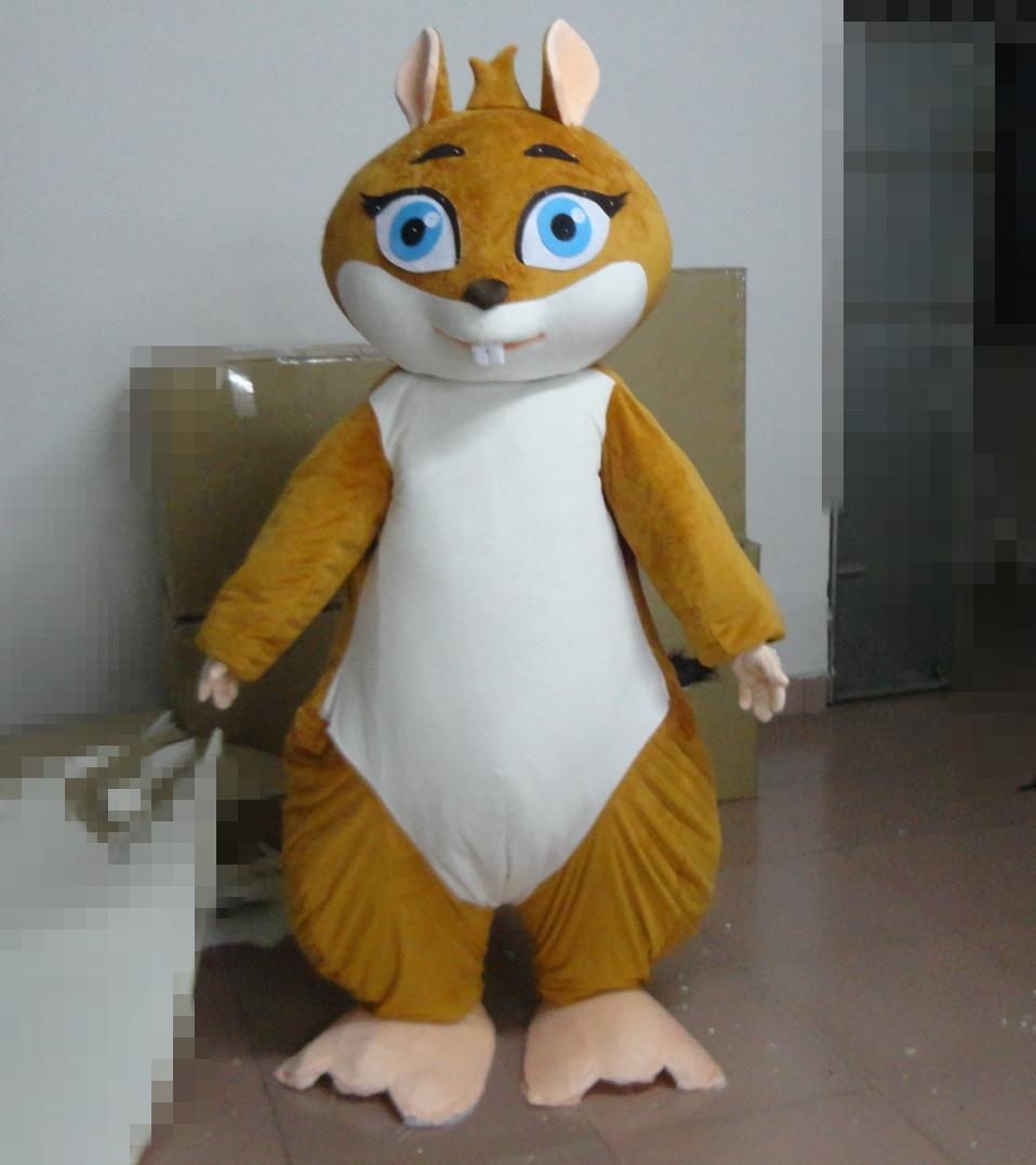 Costumes de mascotte d'écureuil décorés costumes d'écureuil d'acteur de marche pour l'événement de fête d'halloween