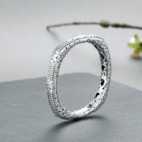 Гарантированный тайский браслет браслеты для женщин открываемые полые Дизайн Винтаж Элегантность ювелирные украшения Jonc Argent 925