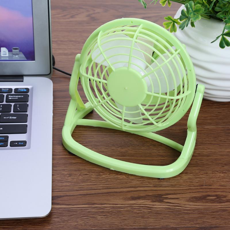 Ultra Quiet Mini 4 inch USB Fans Plastic Portable Small Desk Fan Powerful Wind For PC Laptop Notebook Popular In Summer